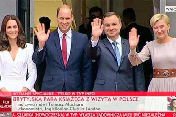 Wizyta brytyjskiej pary książęcej w Polsce. Tak wyglądało powitanie i spotkanie w Pałacu Prezydenckim [WIDEO]