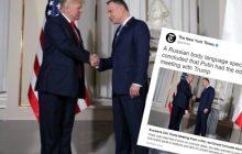 To prezydentowi Dudzie się bardzo nie spodoba! Pomylili go z... Putinem