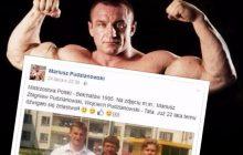 Tak wyglądał Mariusz Pudzianowski 22 lata temu. Czołowy zawodnik KSW pochwalił się starym zdjęciem
