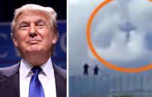 Echa wizyty Trumpa w Polsce cały czas wybrzmiewają. Internauci zauważyli, że podczas przemówienia prezydenta USA na niebie pojawił się... krzyż [WIDEO]