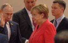 Trudna rozmowa podczas szczytu w Hamburgu. Reakcja Merkel na stanowisko Putina mówi wszystko [WIDEO]