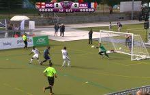 Tak grają w piłkę nożną niewidomi. Fantastyczny drybling i bramka jednego z piłkarzy! [WIDEO]