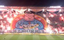 Kibice Legii pokazali, co myślą o UEFA. Kolejna mocna oprawa fanów