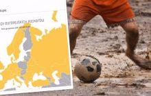 Ta mapa wpędzi polskich kibiców piłkarskich w rozpacz. Przedstawia państwa, które nie będą miały swoich reprezentantów w europejskich pucharach