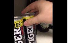 Dziennikarz Polskiego Radia inicjuje akcję #SchowajTigera. Opublikował film, na którym ukrywa napój energetyczny na sklepowej półce za... popularnym piwem [WIDEO]