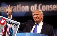 """Oburzająca okładka niemieckiego tygodnika z """"hajlującym"""" prezydentem USA. Największe kontrowersje wzbudził napis [FOTO]"""