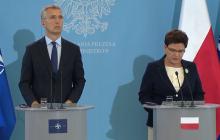 Szef NATO podczas wspólnej konferencji z premier Beatą Szydło pochwalił Polskę [WIDEO]