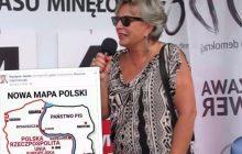 Po internecie krąży przerobiona mapa Polski. Udostępniła ją również Krystyna Janda.