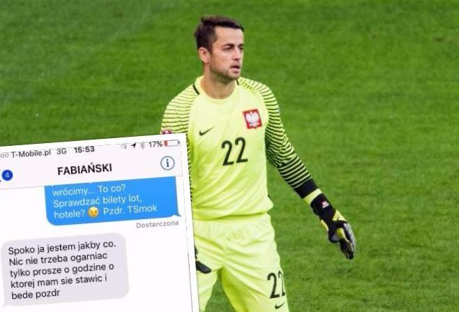 Tomasz Smokowski opublikował treść SMS-ów od Łukaszów: Fabiańskiego i Piszczka. Zawodnicy reprezentacji pokazali prawdziwą klasę! [FOTO]
