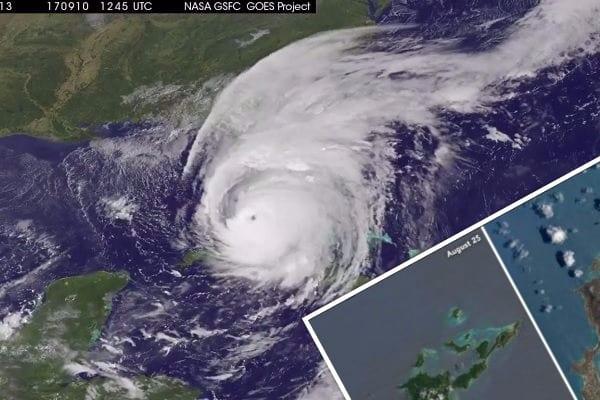 NASA publikuje zdjęcia po przejściu huraganu Irma. Zniszczenia widoczne z kosmosu! [FOTO]