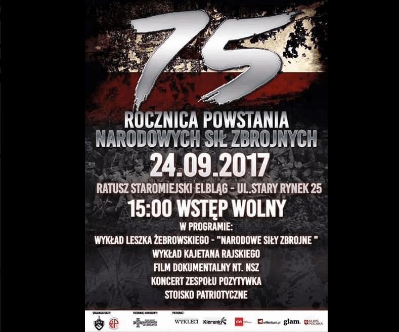 75-lecie powstania Narodowych Sił Zbrojnych. Spotkanie w Elblągu