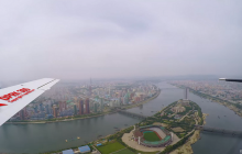 Przeleciał nad stolicą Korei Północnej i nagrał film. Miasto wygląda jak wymarłe [WIDEO]