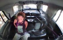 Zdjęła kajdanki i ukradła radiowóz, a policja... chwali się tym nagraniem [WIDEO]