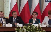 Po tych słowach Andrzeja Dudy na sali zapadła cisza.