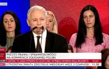 Jarosław Kaczyński przemawiał na konwencji Solidarnej Polski. Uszczypliwa wypowiedź pod adresem Andrzeja Dudy