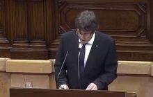 Premier Katalonii głosił kolejny krok. Chce zapobiec wojnie domowej? [WIDEO]