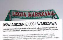 Jest stanowisko Legii Warszawa ws. pobicia piłkarzy. Klub nazwał zajście