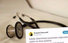 Dziennikarz zadał dwa pytania swoim kolegom po fachu zaglądającym w kieszenie protestującym lekarzom.