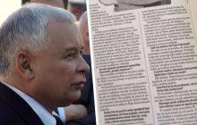 Dziennikarz opublikował archiwalny wywiad z Jarosławem Kaczyńskim. Mówi o myśliwym