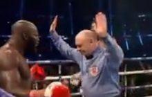 Pięściarz przyjął na twarz grad ciosów, sędzia przerwał walkę. Po ogłoszeniu kontrowersyjnej decyzji zawodnik twierdził, że nadal mógł walczyć [WIDEO]