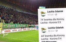 Lechia Gdańsk na kolanach, takiego wyniku w naszej lidze nie było dawno. Internautów rozbawił wpis na Twitterze klubu z Pomorza
