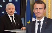 Jarosław Kaczyński jednym zdaniem znokautował Emmanuela Macrona. W ten sposób odniósł się do niedawnego ataku francuskiego prezydenta