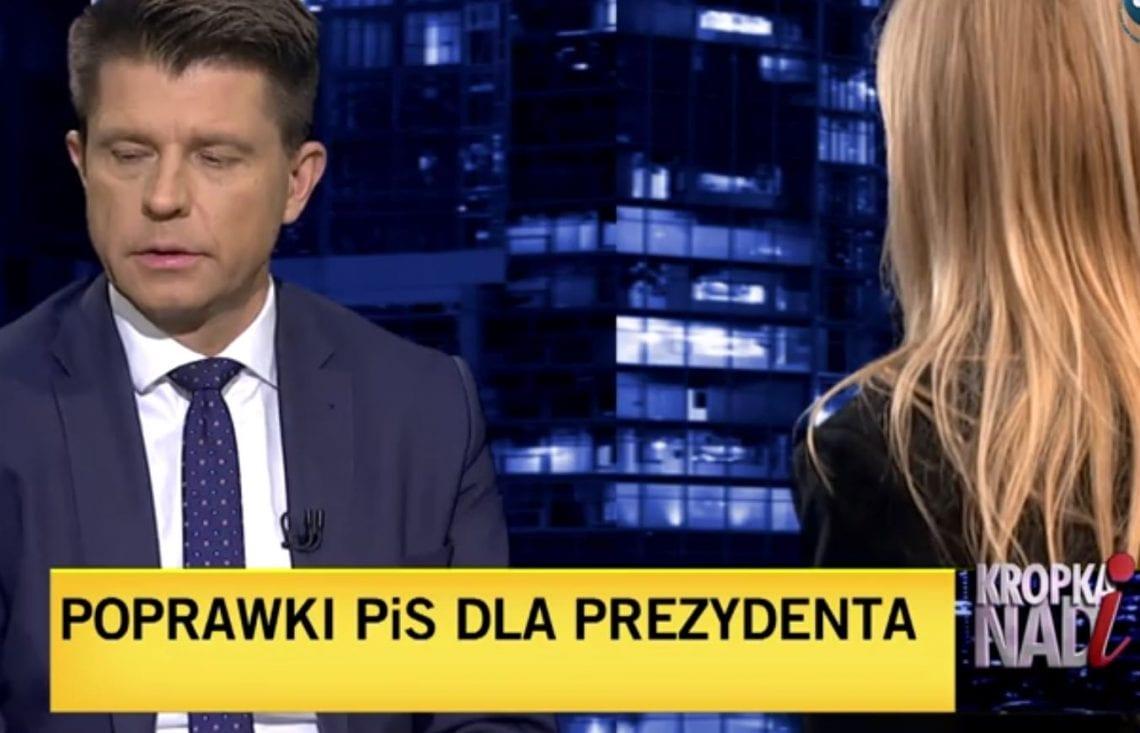 Zabawna sytuacja na antenie TVN. Monika Olejnik upomniała Ryszarda Petru. Polityk chciał zdeprecjonować Andrzeja Dudę?