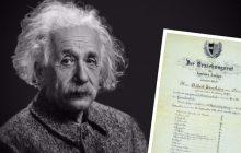 """Opublikowano świadectwo Alberta Einsteina. Genialny fizyk wcale nie miał samych """"6"""""""