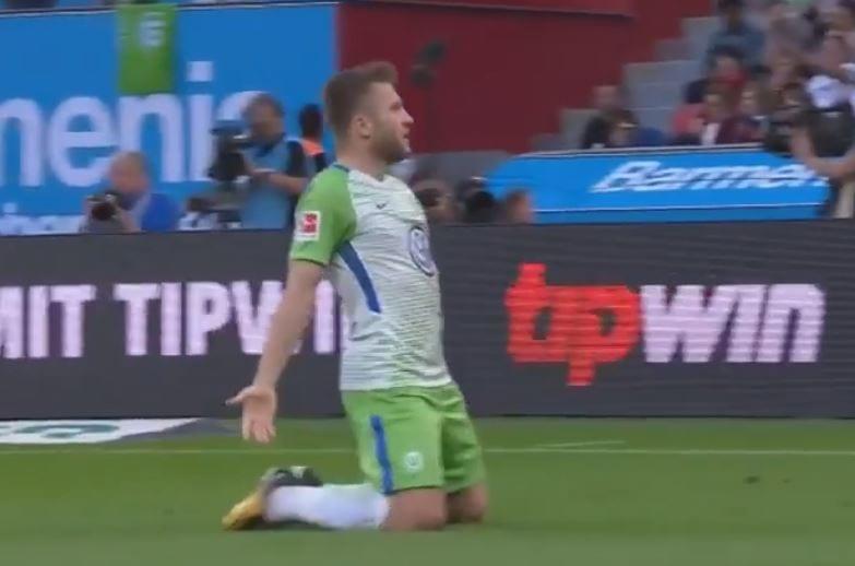 Cudowna akcja i gol Kuby Błaszczykowskiego! Polak bohaterem Wolfsburga! [WIDEO]