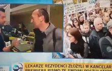 Dziennikarz TVN zapytał przechodnia o protest medyków. Ta odpowiedź nie przypadła mu do gustu.