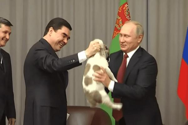 Niespodziewany prezent urodzinowy dla Władimira Putina. Jak zareagował prezydent Rosji? [WIDEO]