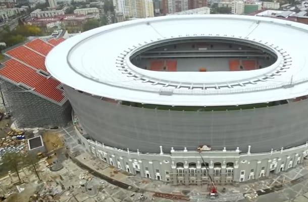 To ma być stadion na Mundial w Rosji. Śmieje się z niego cały świat [WIDEO]