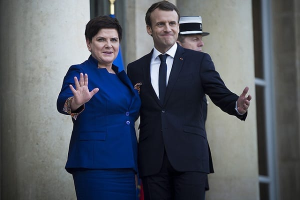 Premier Szydło odwiedziła prezydenta Francji.