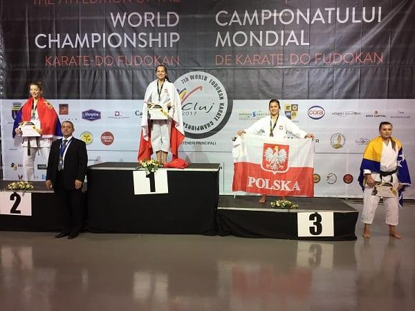 Dwudziestoletnia Klaudia Mleko Mistrzynią Świata Karate Fudokan!
