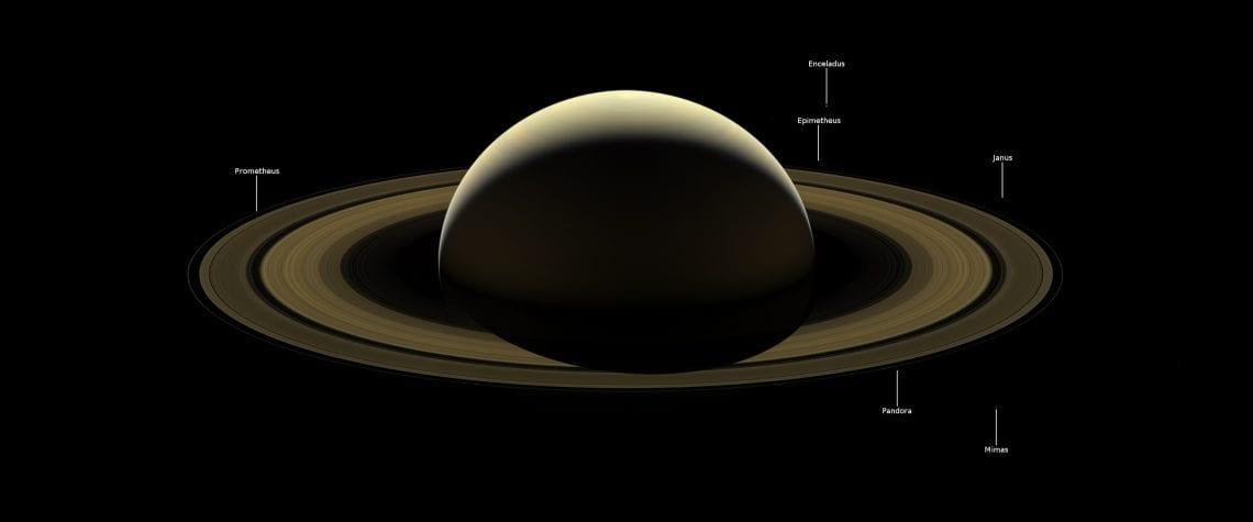 NASA/JPL-Caltech/Space Science Institute /mat. prasowe - (Saturn + podpisy)