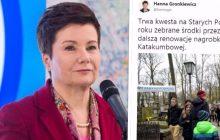 Hanna Gronkiewicz-Waltz kwestowała na warszawskich Powązkach. Internauci nie zostawili na niej suchej nitki... [FOTO]