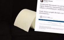 Uniwersytet Warszawski zamierza przejść na nowy papier toaletowy? Wcześniejszy... powodował duże problemy