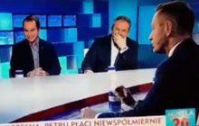 Po wypowiedzi polityka Nowoczesnej, dwaj posłowie wybuchnęli śmiechem w programie na żywo.
