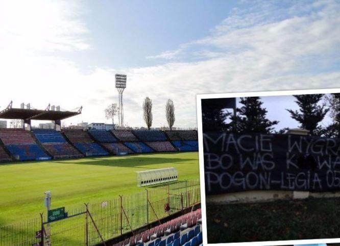 W ten sposób kibice Pogoni Szczecin motywują swoich piłkarzy. Wywiesili transparent, na którym grożą zawodnikom