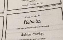 Kontrowersyjny nekrolog dla Piotra Sz. w