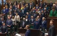 Jednak nie wszyscy posłowie uczcili pamięć Piotra Sz. podczas minuty ciszy w Sejmie?