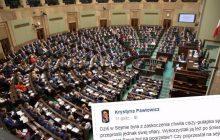 Krystyna Pawłowicz zabrał głos ws. minuty ciszy dla Piotra Sz. w polskim Sejmie. Posłanka jako jedyna nie wstała z miejsca