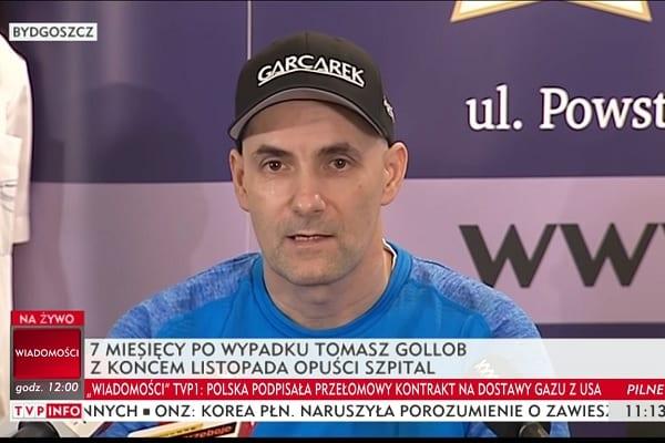 Tomasz Gollob po raz pierwszy na konferencji prasowej.