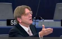 Awantura w Parlamencie Europejskim. Guy Verhofstadt krzyczy za wychodzącym z sali europosłem PiS.