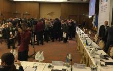 Kijów: Międzynarodowa konferencja zakłócona przez neobanderowców.