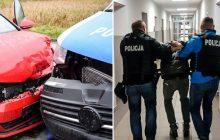 Chciał uciec przed policją. Staranował radiowóz i minął blokadę. W samochodzie było... 5 osób