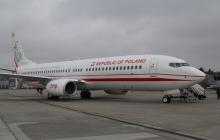 Nowy samolot dla polskich VIP-ów wylądował w Warszawie. Na poszyciu maszyny znalazł się wizerunek marszałka Józefa Piłsudskiego [FOTO]