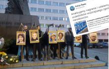 Narodowcy powiesili zdjęcia polityków PO na szubienicy. Teraz sprawą zajmie się policja.