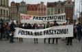 """Wrocław: """"Antyfaszyści"""" organizują pikietę w odpowiedzi na lokalny Marsz Niepodległości. """"Zmywamy hańbę domową"""""""