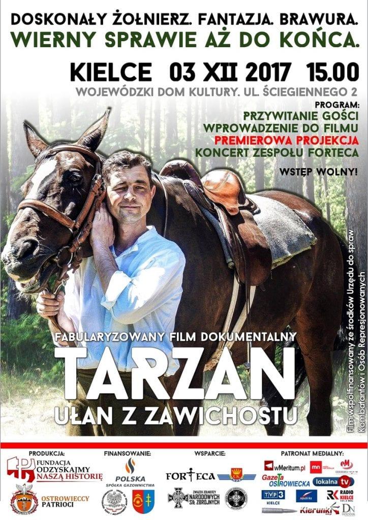Plakat premiera Tarzan Kielce